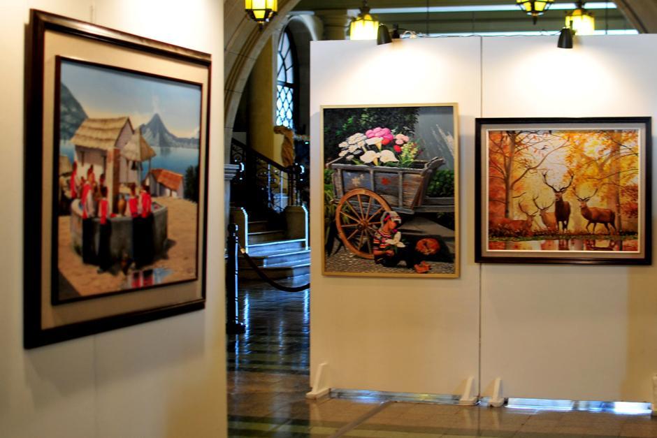 Este lunes se inauguró la exposición de Pinacoteca de Casa Presidencial. (Foto: Alejandro Balán/Soy502)