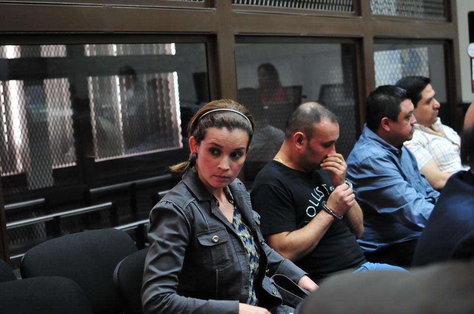 Ana Sofía Castañeda Deras, alias La Sirenita en el Juzgado B de Mayor RIesgo. (Foto: Alejandro Balán/Soy502)