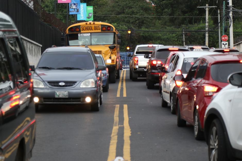La 20 calle se vio un poco más fluida. (Foto: Alejandro Balán/Soy502)