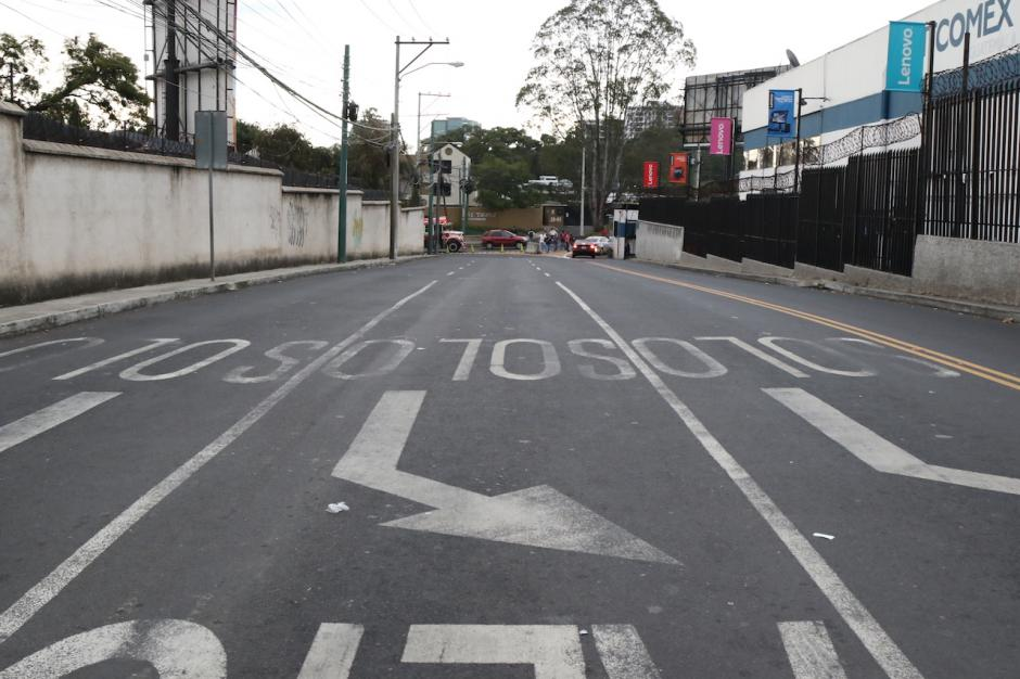 Así se ve la 27 avenida entre la 20 calle y bulevar los Próceres. (Foto: Alejandro Balán/Soy502)