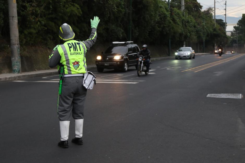 El tráfico de Santa Catarina Pinula hacia el bulevar Liberación fue fluido. (Foto: Alejandro Balán/Soy502)