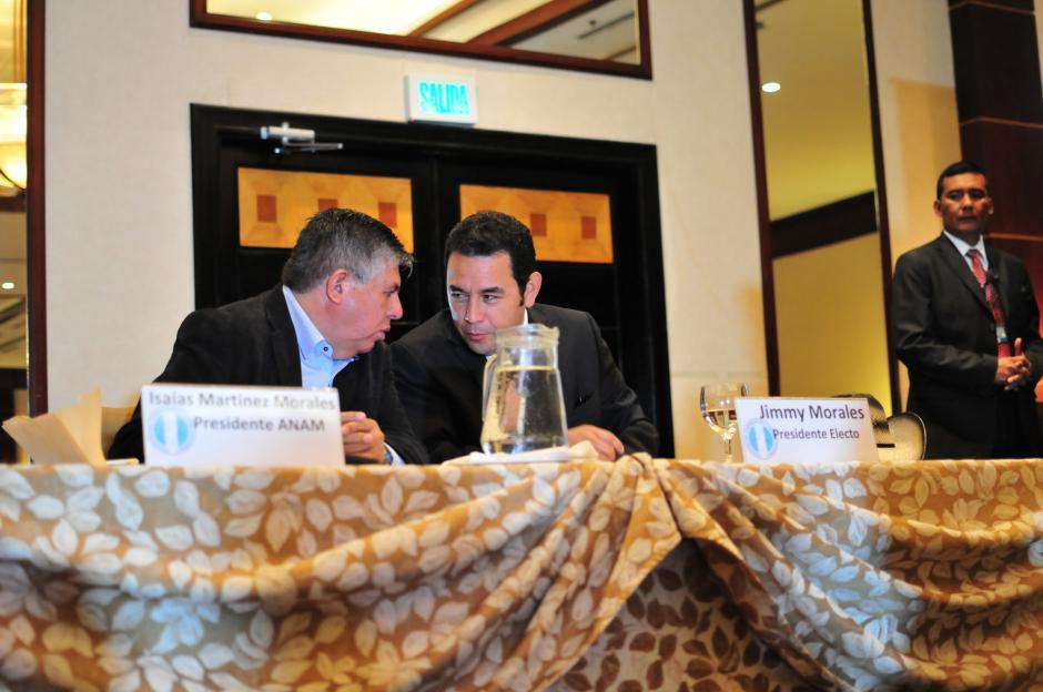 La reunión estuvo presidida por Isaías Morales, presidente de la Asociación Nacional de Municipalidades de la Republica (ANAM), alcalde de San Diego, Zacapa. (Foto: Alejandro Balán/Soy502)