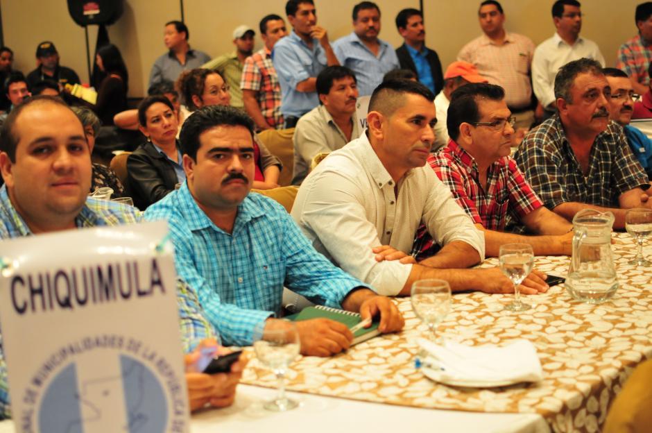 Entre los asistentes procedentes de Chiquimula se pudo ver a Esduin Javier Javier, alcalde de Ipala, quien fue señalado por la CICIG. (Foto: Alejandro Balán/Soy502)