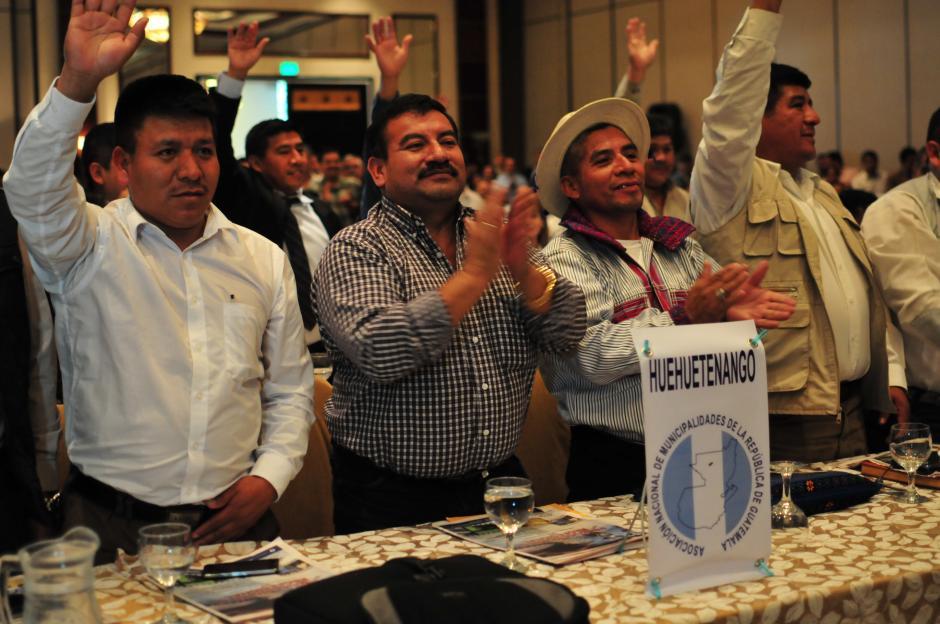 Morales acudió a una reunión con el poder local en la que participaron la mayoría de alcaldes de lso 338 municipios. (Foto: Aljandro Balán/Soy502)