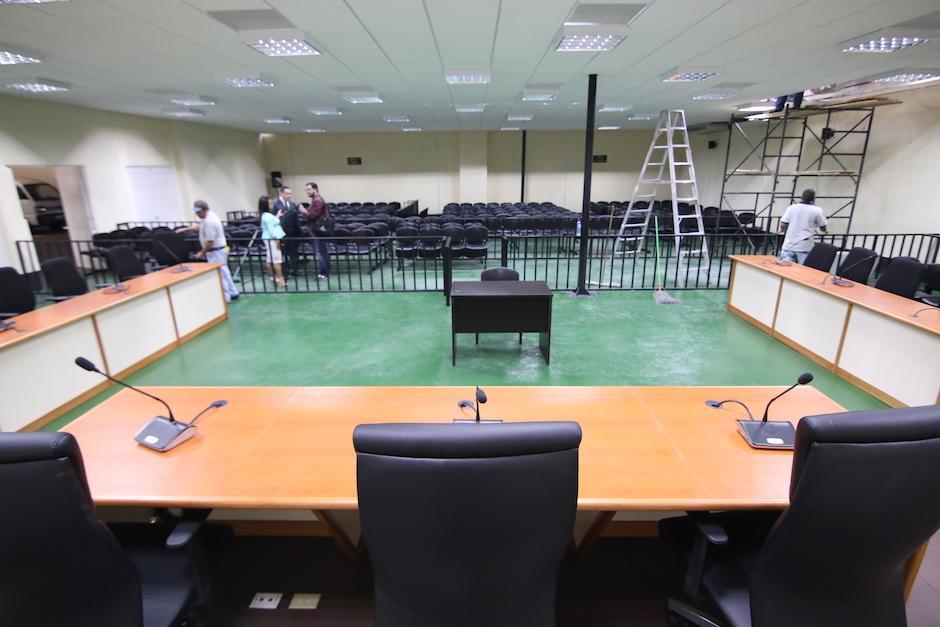 Esta es la nueva sala de audiencia del Organismo Judicial.  (Foto: Alejandro Balan/Soy502).