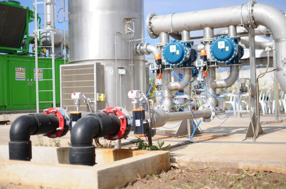 La planta aprovecha el metano que es producido por la descomposición de los desperdicios orgánicos para generar la energía. (Foto: Alejandro Balan/Soy502)
