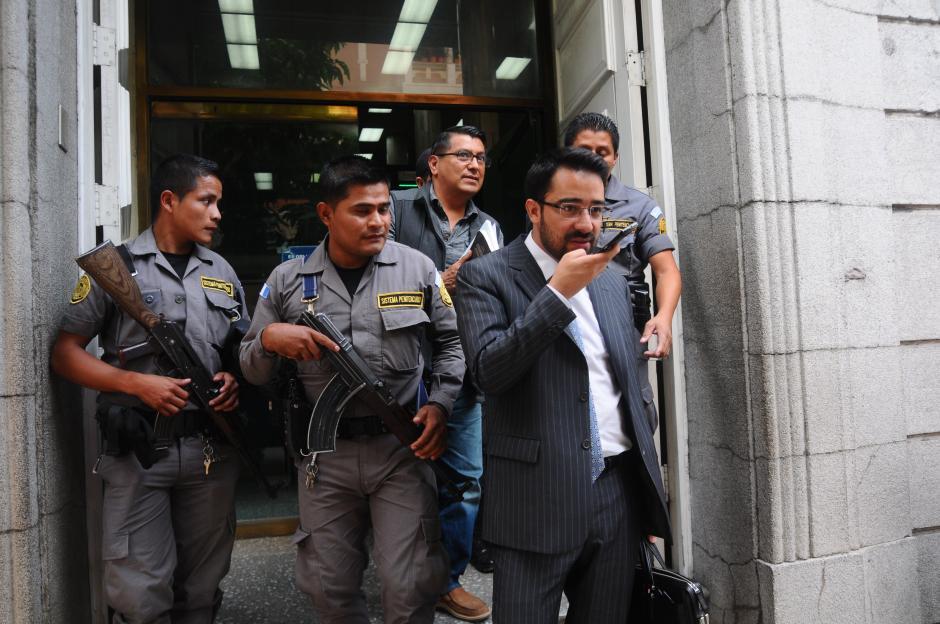 Castillo fue arrestado por el caso de Aceros de Guatemala. (Foto: Alejandro Balan/Soy502)