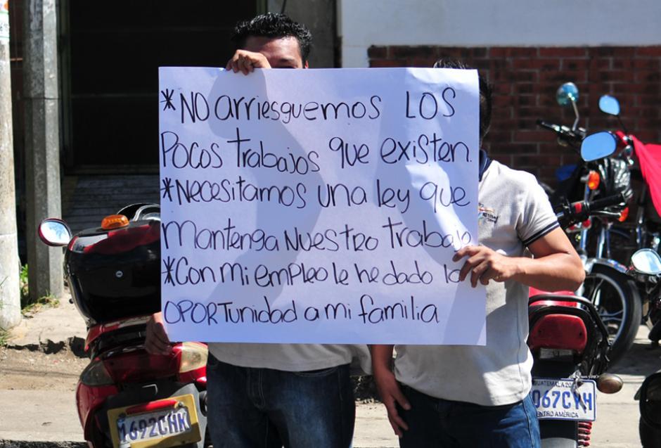 Los empleados del sector textil temen perder su empleo si no se aprueba la iniciativa. (Foto: Alejandro Balán/Soy502)