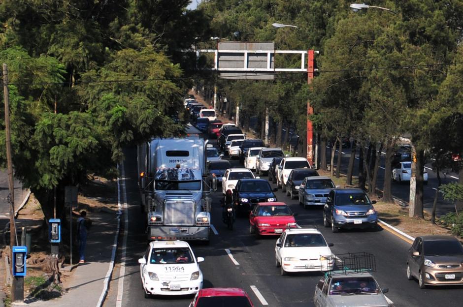 Se espera que en los próximos días la circulación vehicular sea más complicada.(Foto: Alejandro Balán/Soy502)
