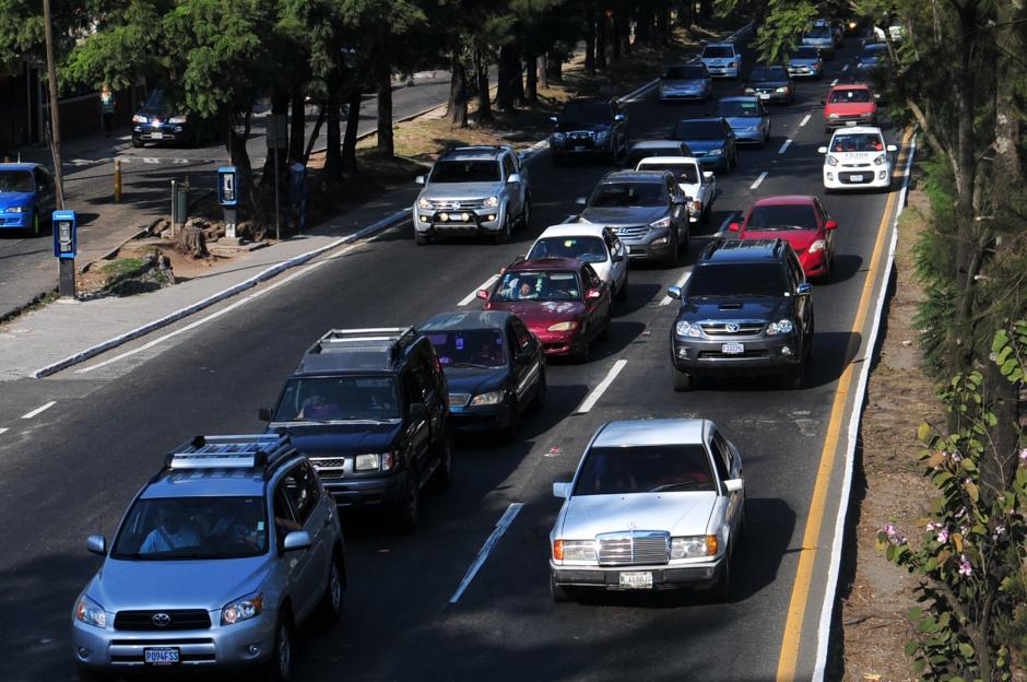 La circulación estuvo complicada, principalmente después del mediodía por diversos sectores de la ciudad.(Foto: Alejandro Balán/Soy502)