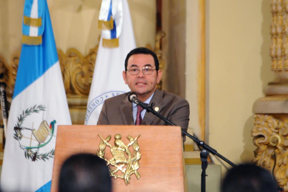 Presidente Morales destacó la calidad de vulnerabilidad del país. (Foto: Alejandro Balán/Soy502)