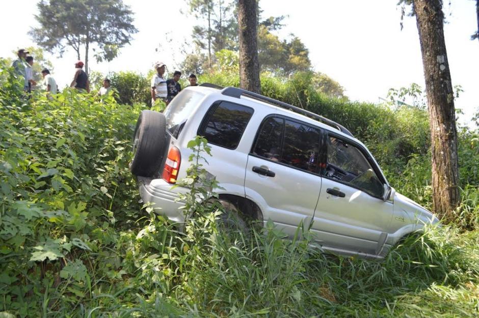 Este es el vehículo de la funcionaria. (Foto: Irma Elizaberh Tzi/Nuestro Diario)