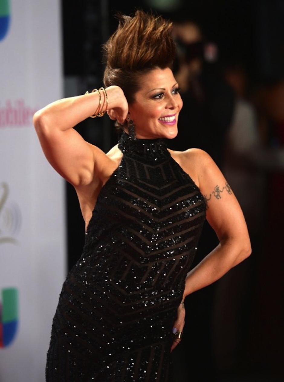 Alejandra Guzmán optó por un peinado punk para la gala. (Foto: AFP)