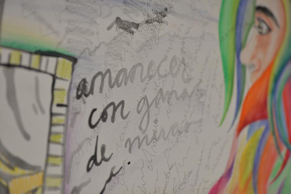 Alexandra dejó una gran lección para quienes desean dedicarse al arte. (Foto: Wilder López/Soy502)
