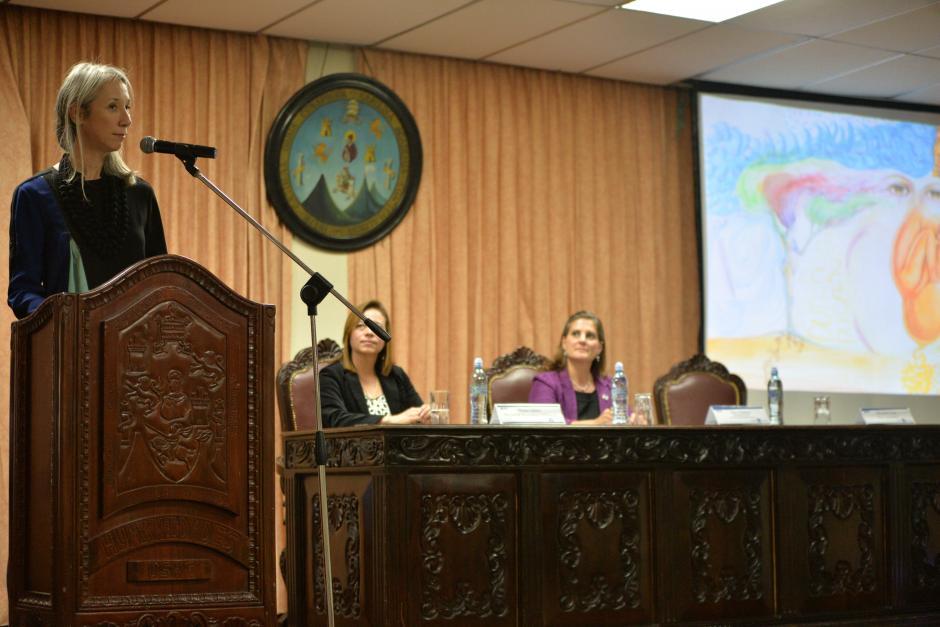 Las piezas fueron expuestas en la facultad de humanidades de la Universidad de San Carlos. (Foto: Wilder López/Soy502)