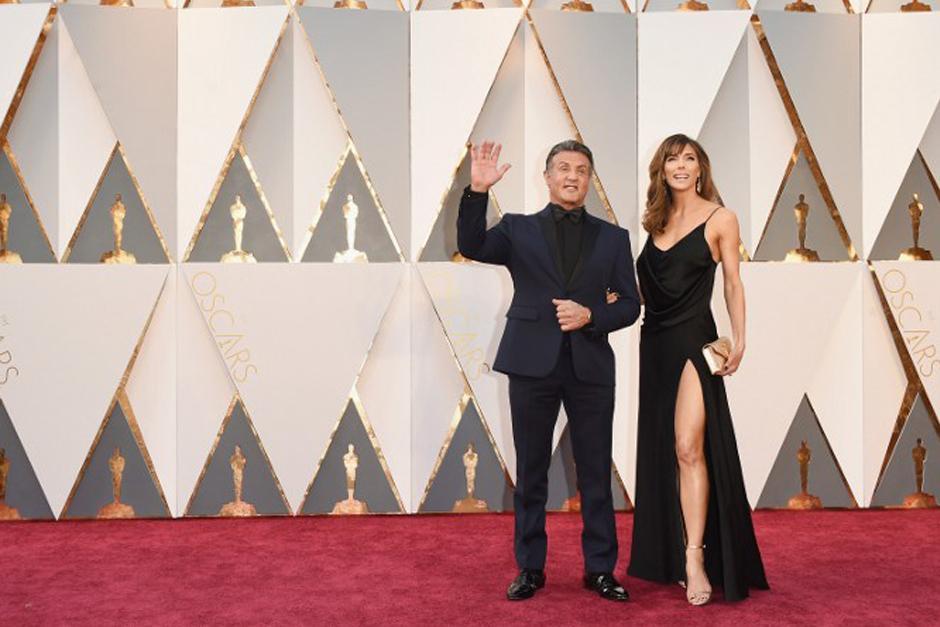 Sylvester Stallone junto a su esposa (Foto: AFP)
