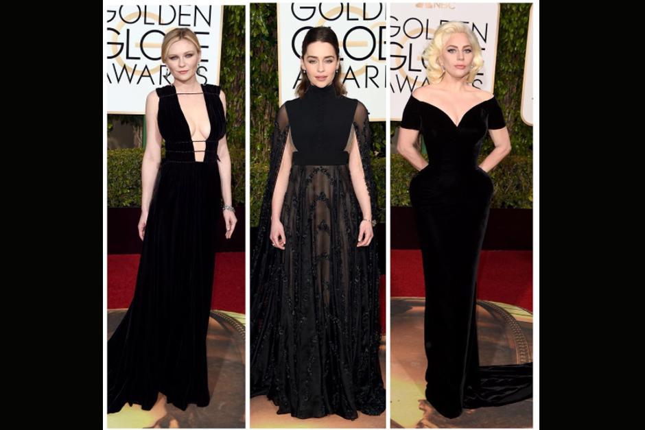 Kirsten Dunst, Emilia Clarke y Lady Gaga.