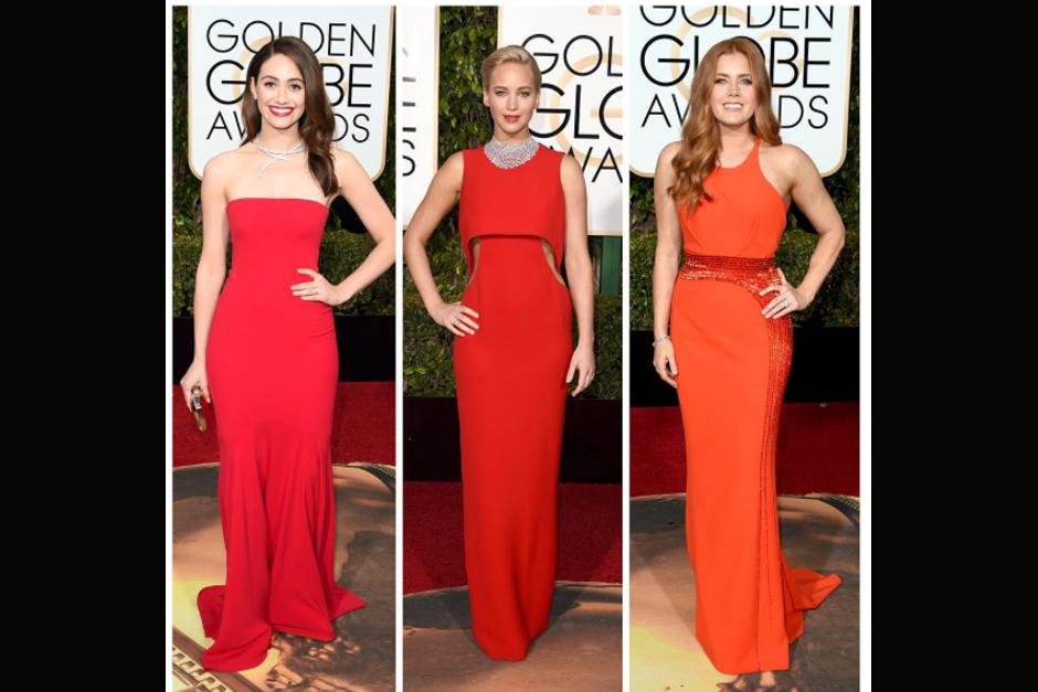 Emmy Rossum, Jennifer Lawrence y Amy Adams.