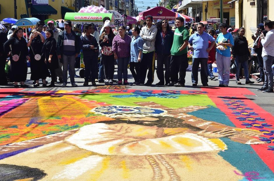 La alfombra está inspirada en Guatemala. (Foto: Selene Mejía/Soy502)