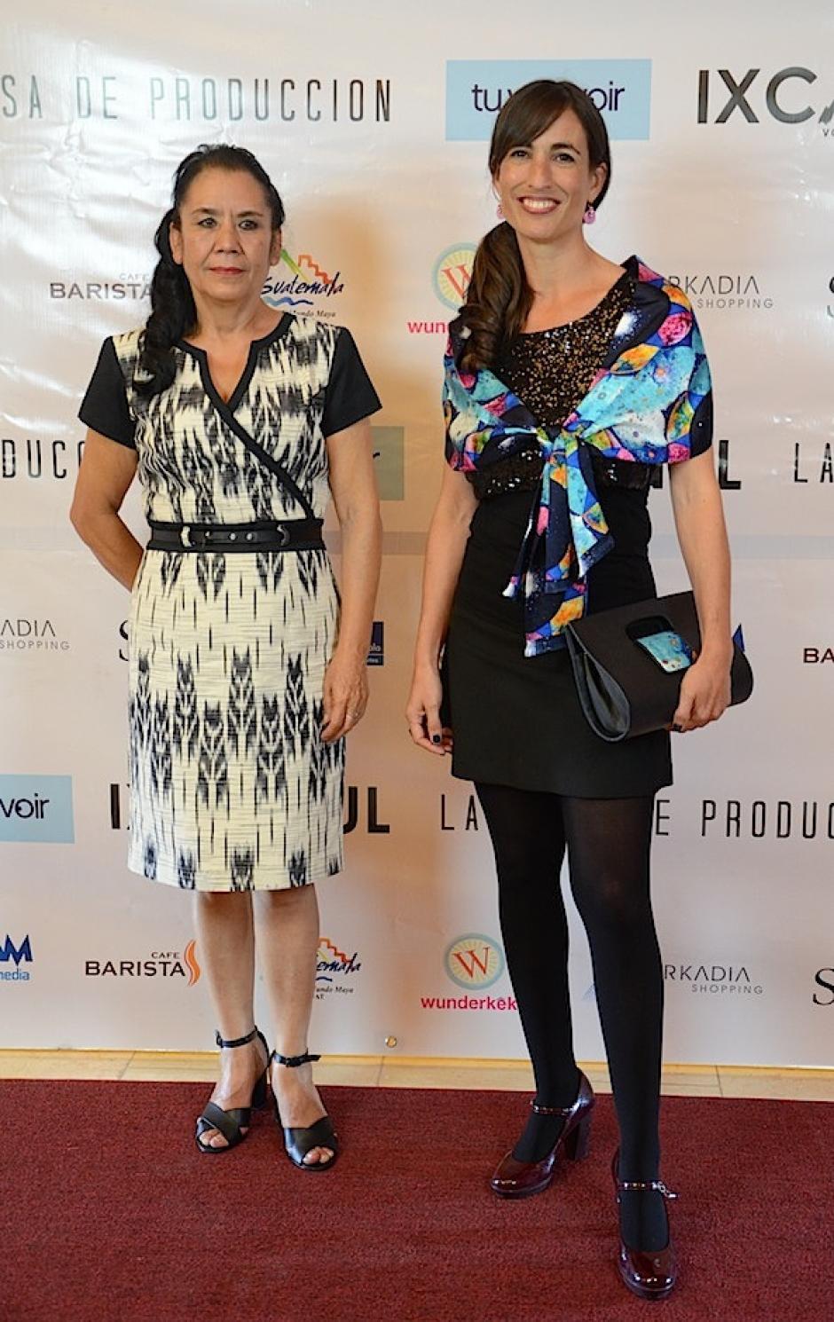 Marina Peralta y Pilar Peredo, productoras de Ixcanul no podían faltar. (Foto: Selene Mejía/Soy502)