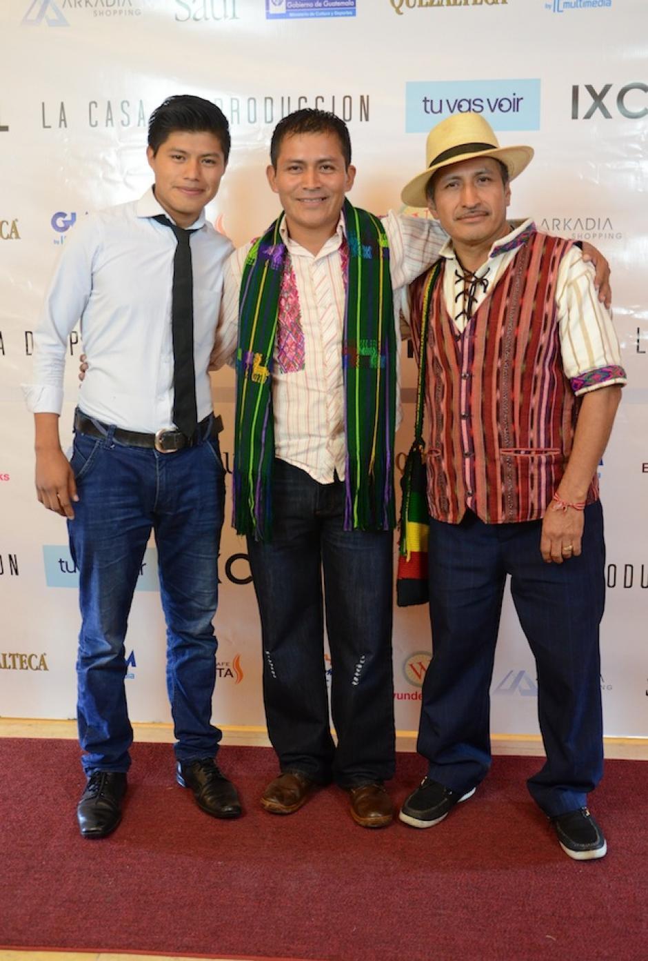 Los protagonistas de Ixcanul contagiaron su emoción a los invitados. (Foto: Selene Mejía/Soy502)