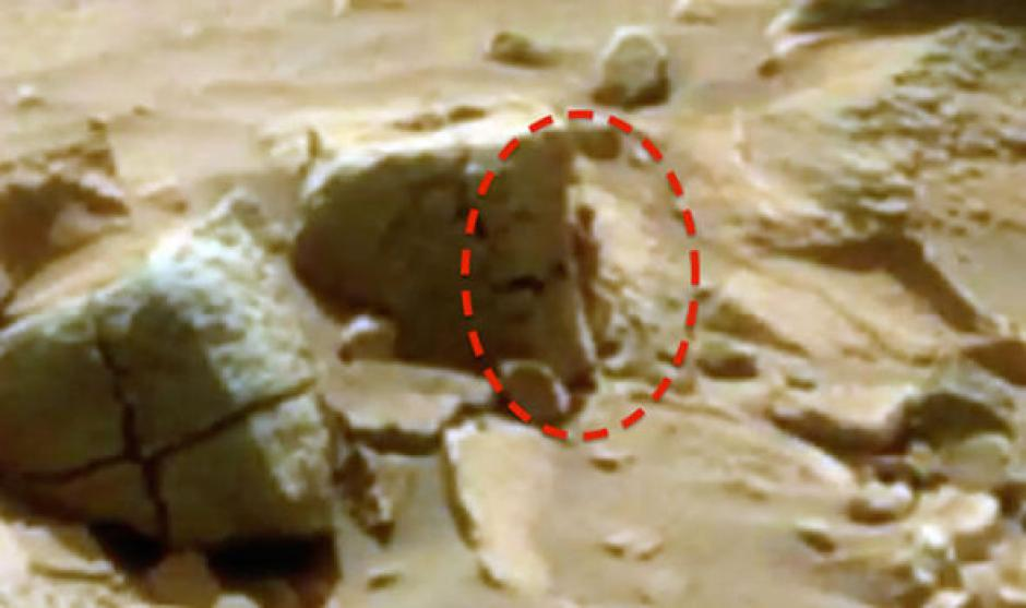 La imagen permite ver la silueta, esta fue captada desde la cámara del Robot Curiosity. (Foto: express)