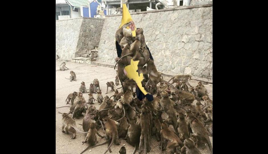 La imagen del turista se ha viralizado en las redes sociales. (Foto: Perú.com)