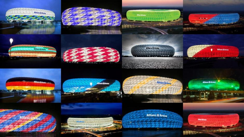 El Allianz Arena cambia de color constantemente. (Foto: López Dóriga Digital)