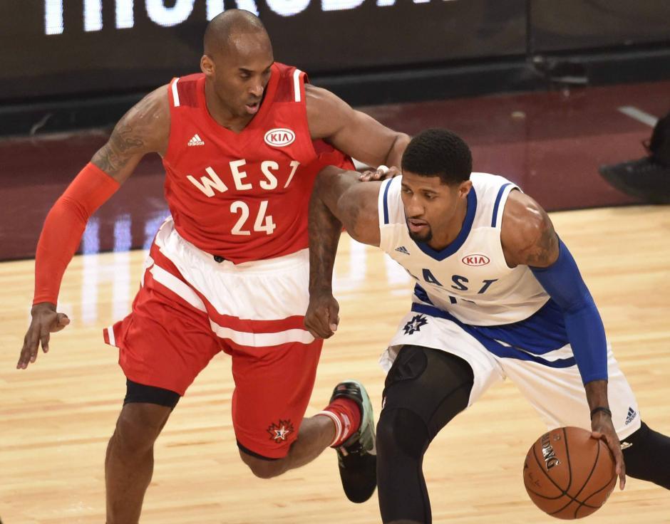 """Kobe disfrutó su último """"Juego de las Estrellas"""", que se realizó en Toronto, Canadá.  (Foto: EFE)"""