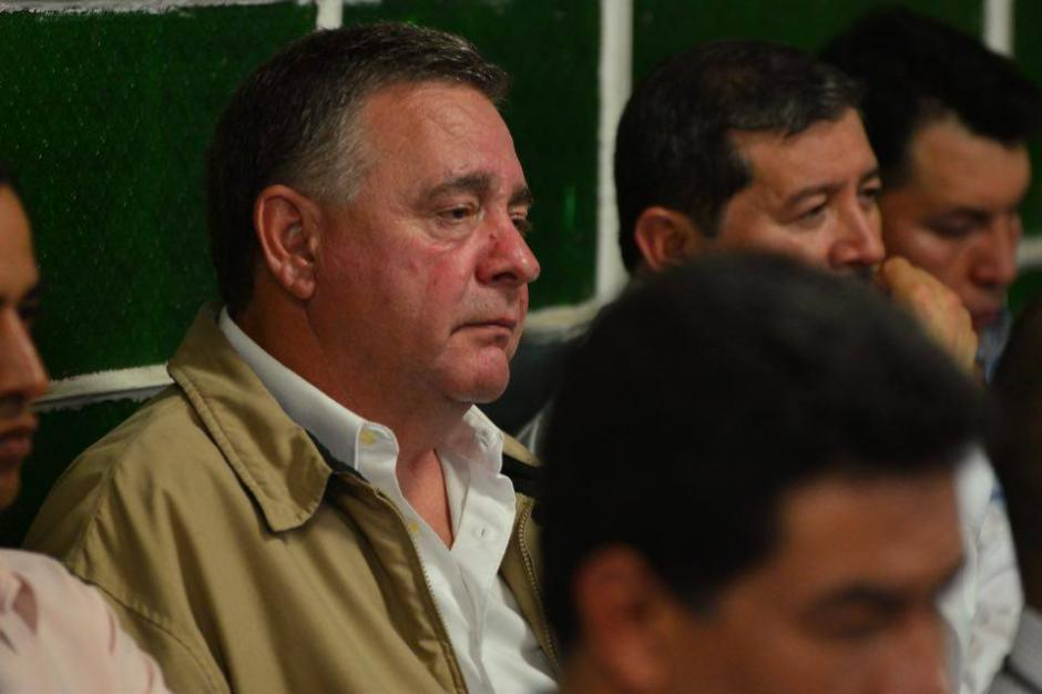 Hugo Roitman (Uri) denotaba un aspecto de nerviosismo en la audiencia.  (Foto: Jesús Alfonso/Soy502)