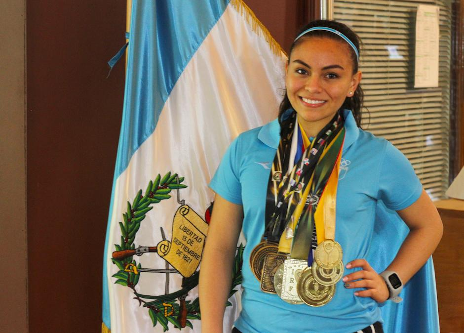 Ana Gabriela Martínez es heptacampeona mundial de raquetbol. (Foto: Soy502)