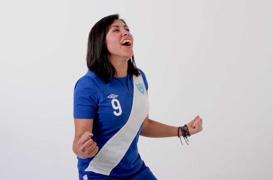 Ana Lucía Martínez quiere seguir gritando muchos goles con Guatemala. (Foto: Soy502)