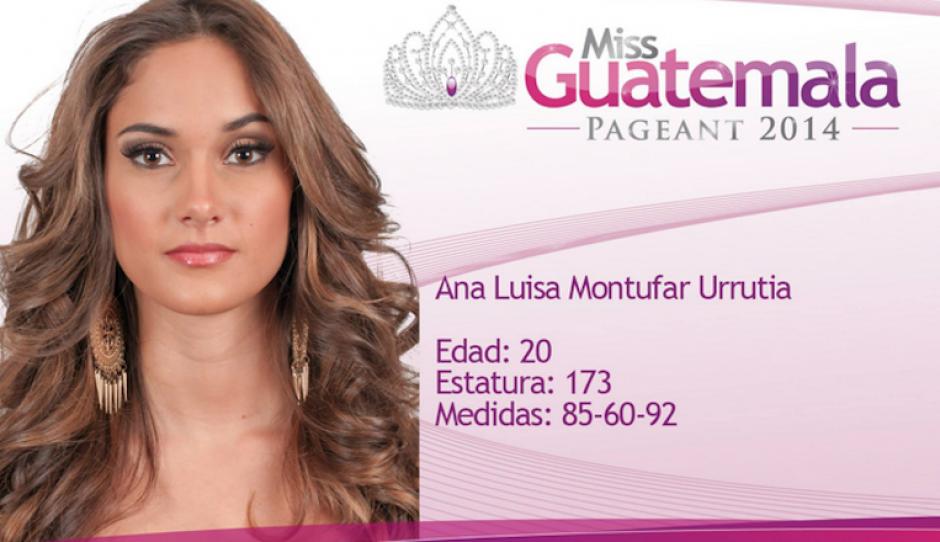 El carisma de Ana Luisa Montúfar promete mucho para la entrega que se celebrará el 17 de mayo. (Foto: Miss Guatemala oficial)