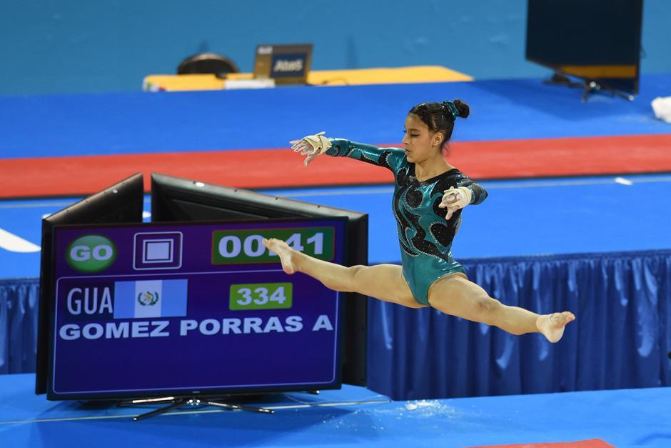 Ana Sofía Gómez Porras se quedó con el bronce para Guatemala en la prueba final de piso en gimnasia artística