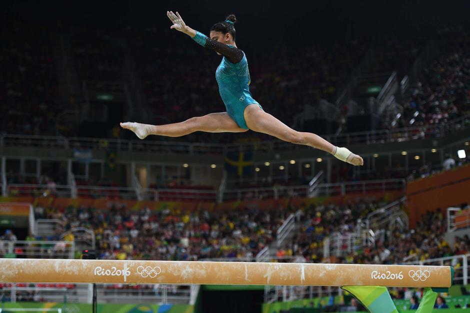 Ana Sofía consiguió un 13.400 en la modalidad de viga de equilibrio. (Foto: Aldo Martínez/Enviado Nuestro Diario)