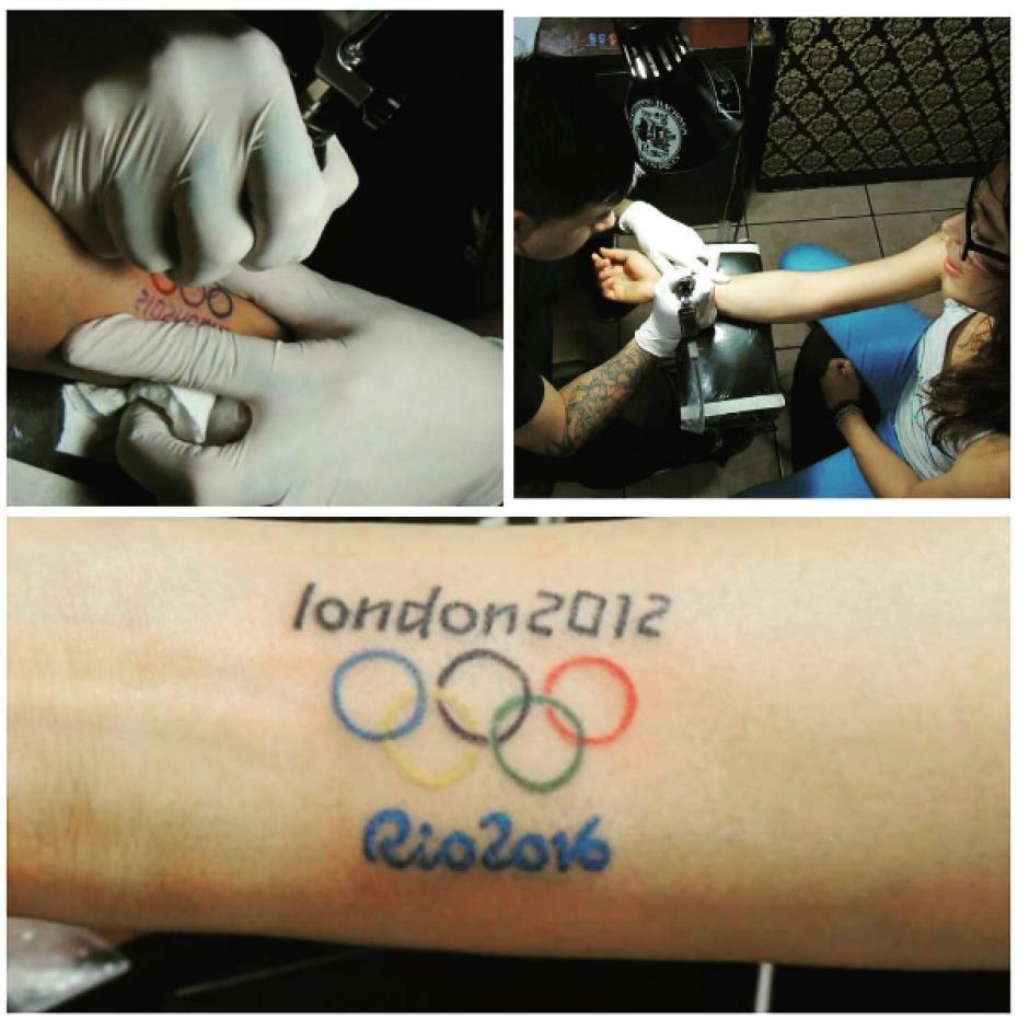 Ana Sofía Gómez se tatuó las fechas en las que ha participado en los Juegos Olímpicos. (Foto: Ana Sofía Gómez/Instagram)