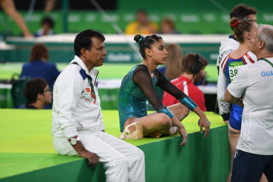 Ana Sofía tuvo dos dificultades en las caídas, en viga y piso.  (Foto: Aldo Martínez/Enviado Nuestro Diario)