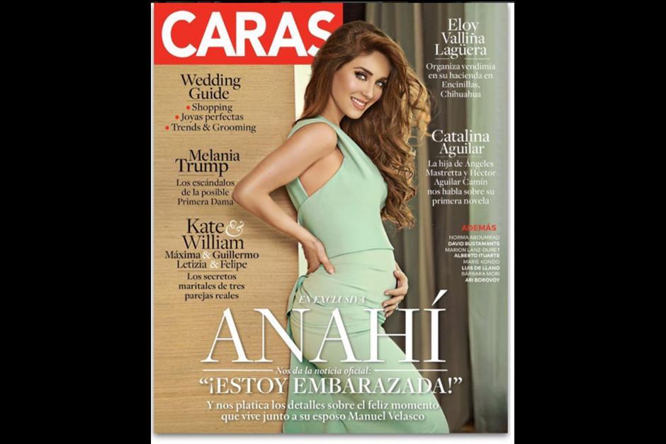 Anahí anunció su embarazo con la portada de una revista. (Foto: Instagram)