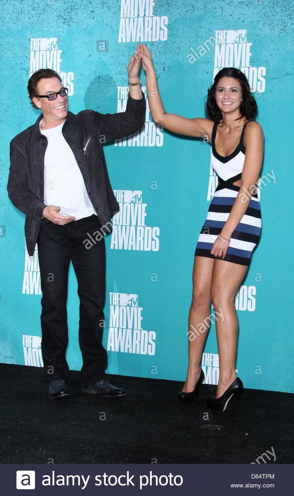 Bianca junto a su padre Jean-Claude Van Damme en un evento.  (Foto: Fotogramas)