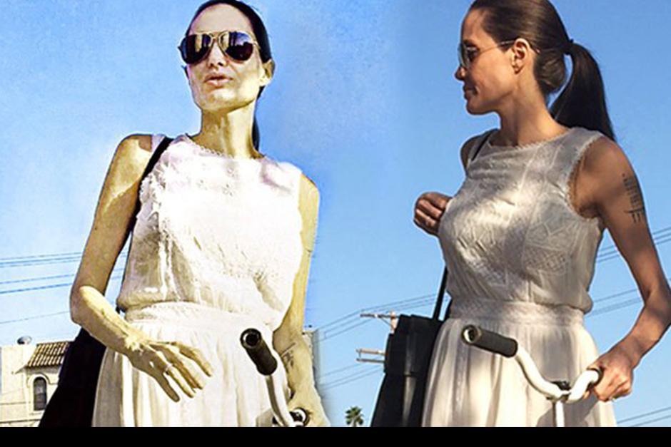 Segun Radar Online los brazos de Angelina cada vez son más delgados. (Foto: Radar Online)