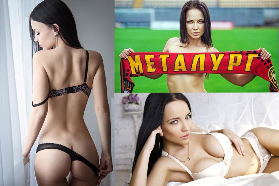La modelo ucraniana, Angelina Petrova, se desnuda en busca de salvar a su club de fútbol.