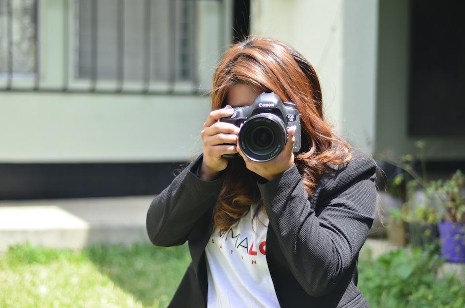 Cabrera usa la fotogafía para enviar su mensaje: ¡no al maltrato animal!