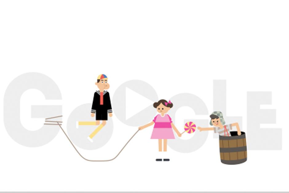 """Google elabora un """"doodle"""" por el 45 aniversario del primer capítulo de la serie mexicana """"El Chavo del 8"""". (Foto: Doodlle/Google)"""