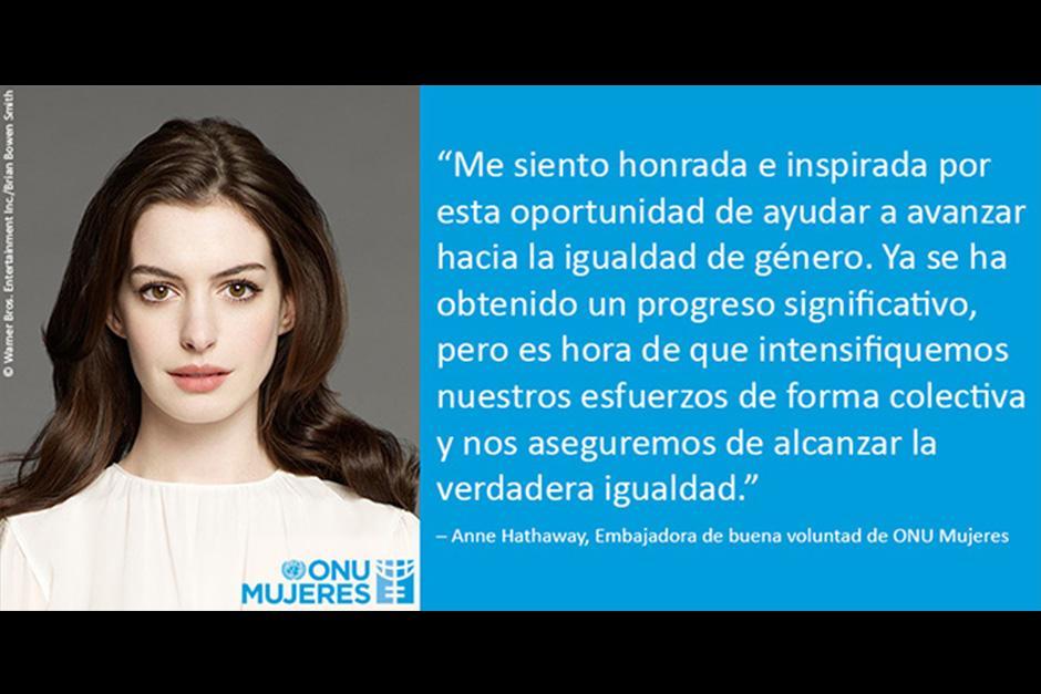 "Hathaway dijo sentirse ""honrada e inspirada"". (Foto: Archivo)"