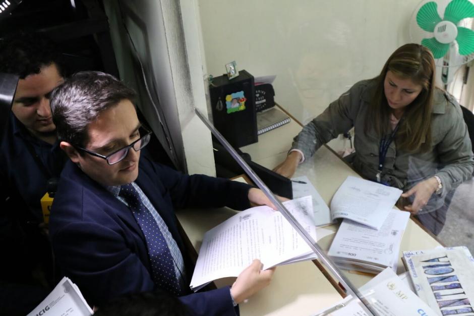 Francisco Sandoval, jefe de la Fiscalía Especial Contra la Impunidad (FECI), presentó la solicitud de antejuicio. (Foto: Alejandro Balan/Soy502)