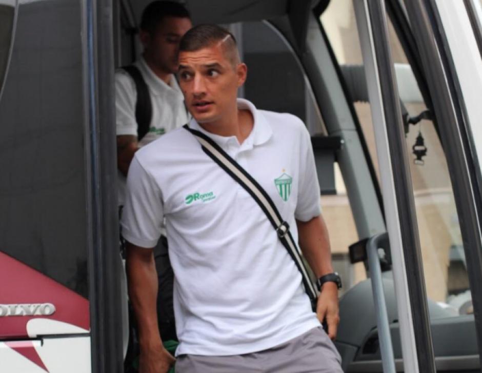 Cristian García, portero de Antigua GFC a su llegada a Nueva Jersey. (Foto: Antigua GFC)