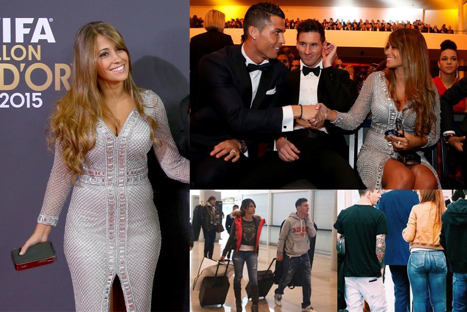 Antonella Rocuzzo, la novia de Messi, se roba el show en la gala del Balón de Oro.