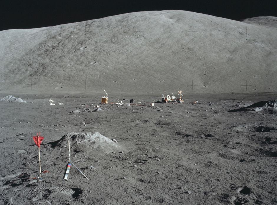 Experimentos en la luna durante viaje del Apolo 17. (Nasa)