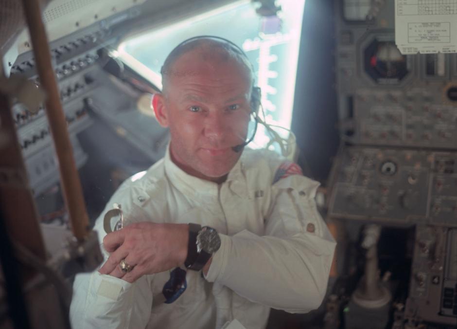 El astronauta Buzz Aldrin, en el módulo lunar, del Apolo 11, julio de 1969. (Foto: Nasa)