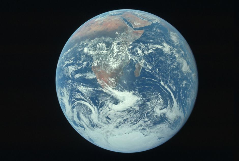 La tierra vista desde el Apolo 17 en diciembre de 1972. (Foto: Nasa)